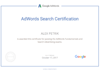 AdWords Certificate