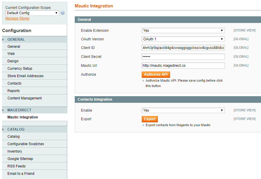magento-mautic-integration