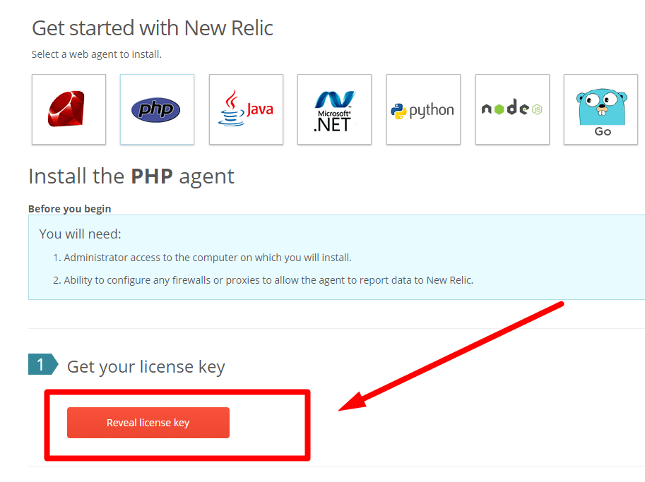 get started with new relic