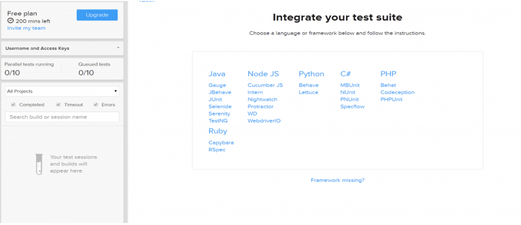 integrate your test suite