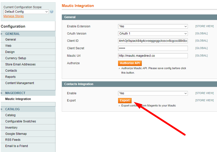Magento 1 Mautic Integration Extension